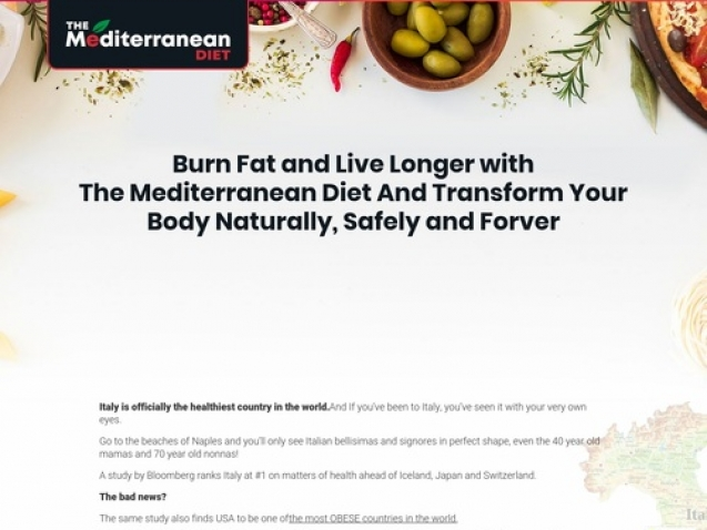 Mediterranean Diet – The Official Diet Plan & Custom Quiz Lander