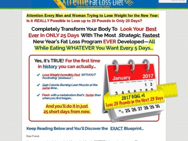 Xtreme Fat Loss Diet – 7 Figure Winner-all Time Best Seller